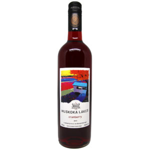bottle of muskoka lakes winery cranberry wine