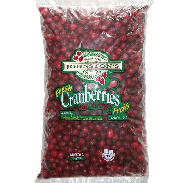 2 kg bag of Johnston's frozen cranberries