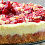 White Chocolate Cranberry Cheesecake