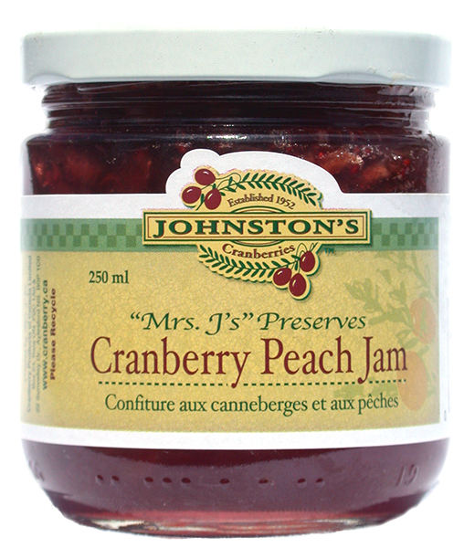 Mrs. J's Cranberry Peach Jam