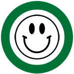 icon of a smiley face in a green circle