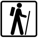 icon with hiker