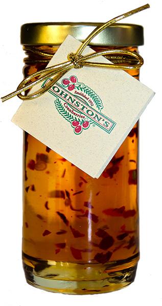 jar of Muskoka Lakes hot white cranberry wine jelly