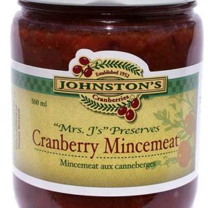a jar of Mrs. J's cranberry mincemeat