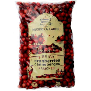 bag of 2 kg muskoka lakes johnston cranberries