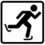 icon of a person skating