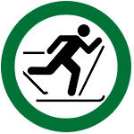icon showing that cross country skiing is allowed