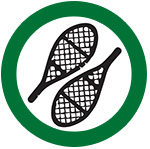 symbol showing snowshoeing is allowed