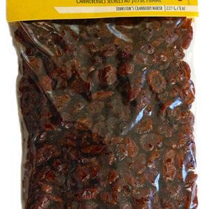 227 gram bag of Johnston's apple juice infused dried cranberries