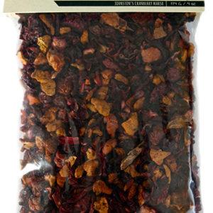 bag of Johnston's cranberry apple fruit & herb tea