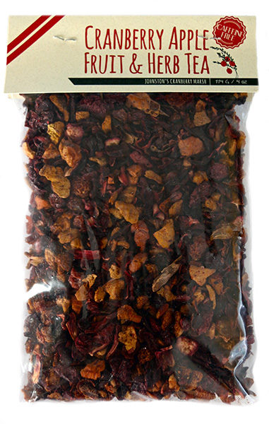 bag of Johnston's cranberry apple fruit & herb tea