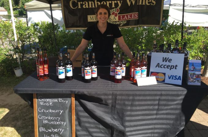 muskoka lakes winery's farmers' market booth