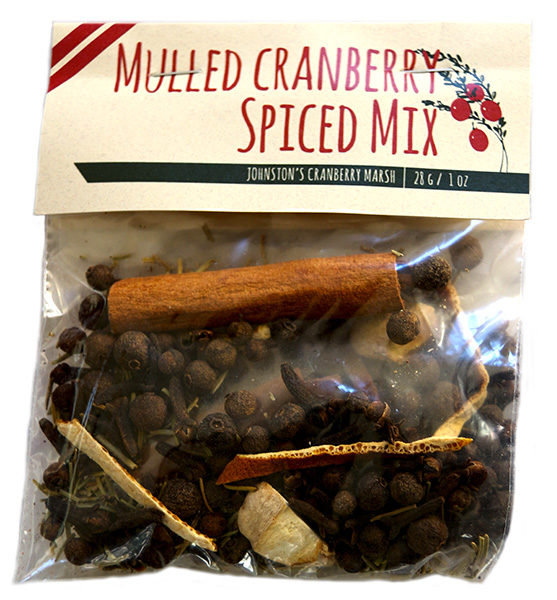 package of Johnston's mulled cranberry spiced mix