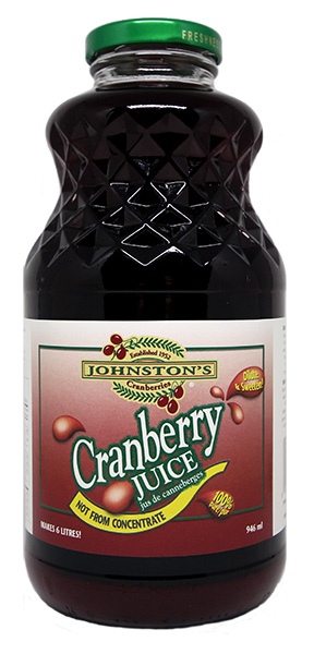 946 ml jar of pure cranberry juice