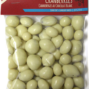 227 gram bag of white chocolate covered dried cranberries