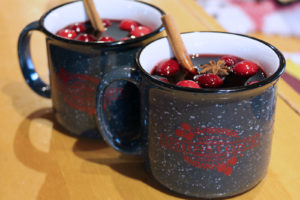 Hot mulled wine at Muskoka Lakes Winery in Bala, Muskoka, Ontario