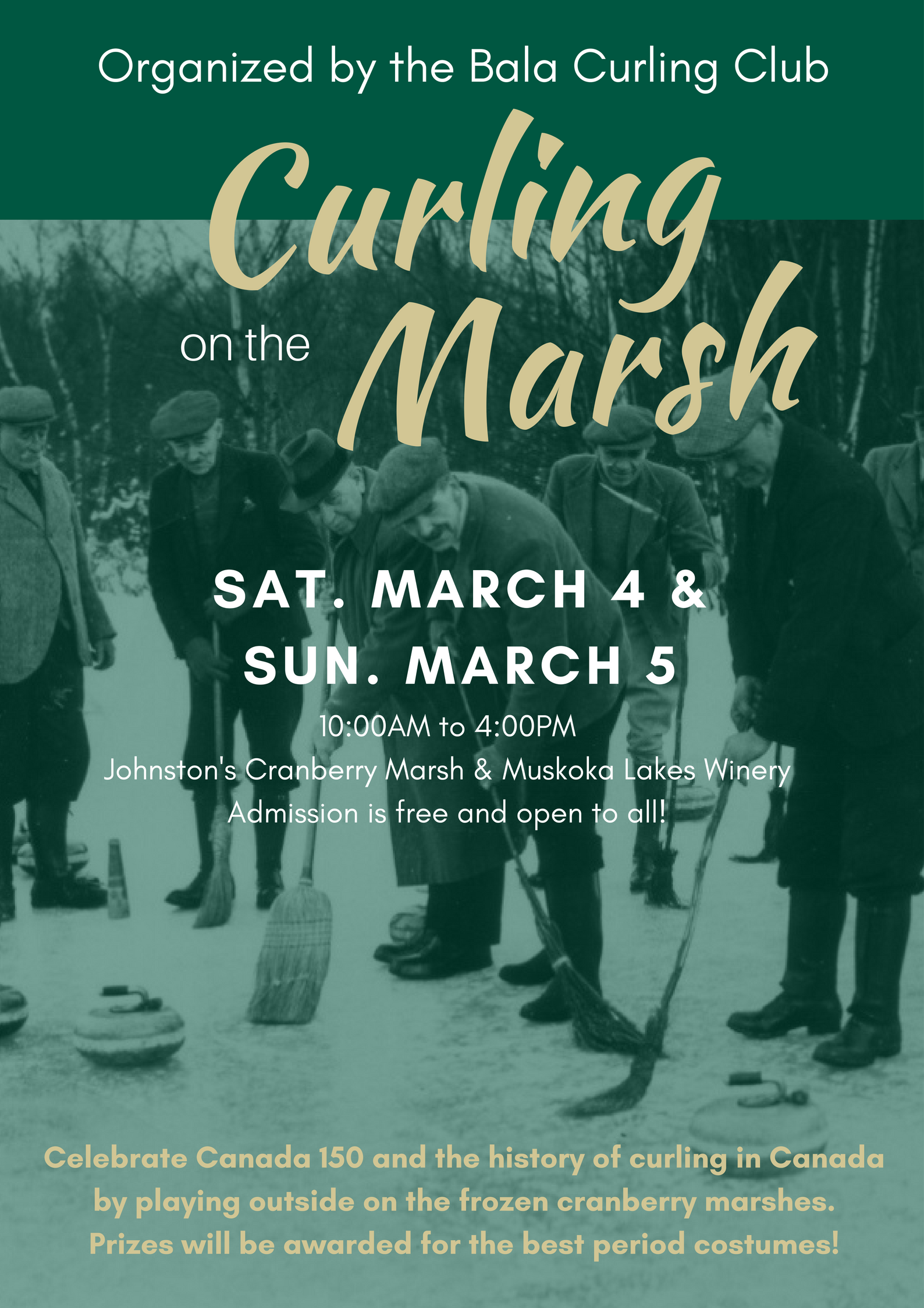 curling on the marsh poster
