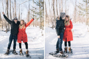 couple on snowshoes