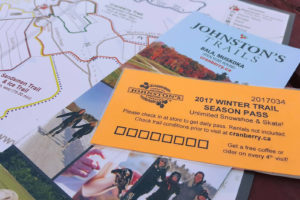 seasons pass and trail map to johnstons cranberry trails