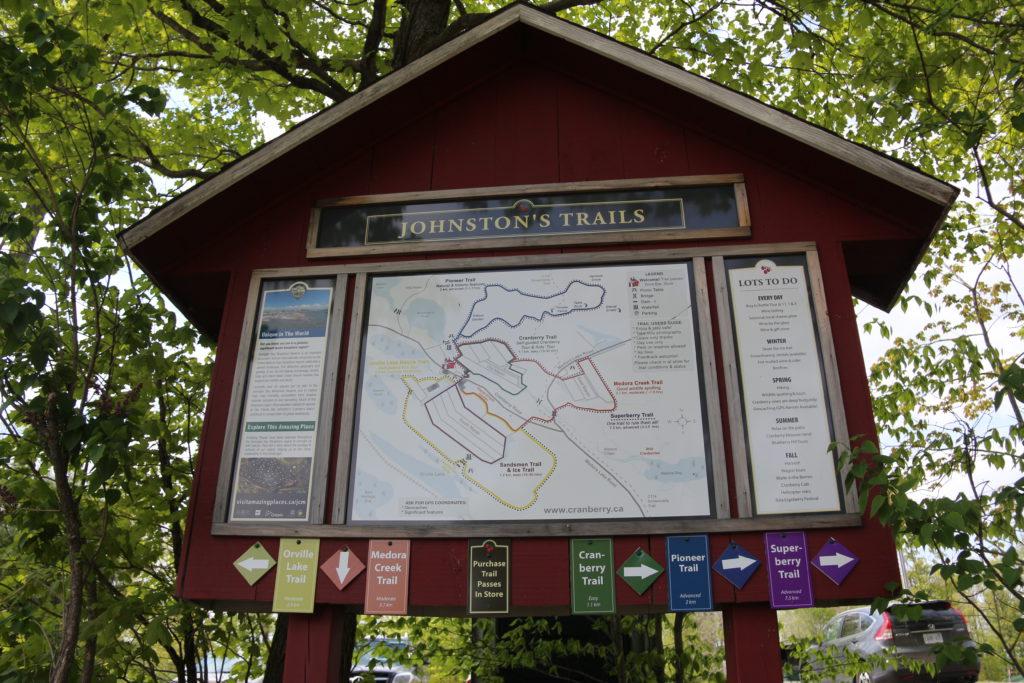 Johnston's Trails Map