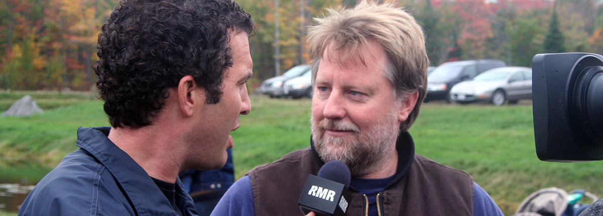 rick mercer interviewing murray johnston at johnstons cranberry marsh