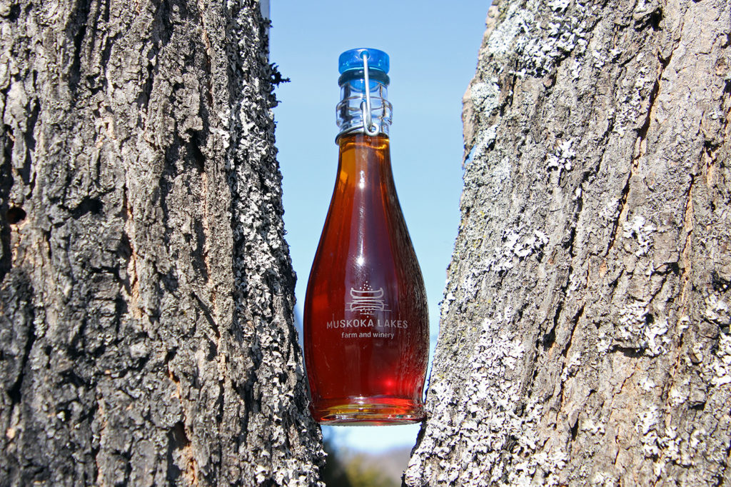 muskoka lakes maple syrup in a tree