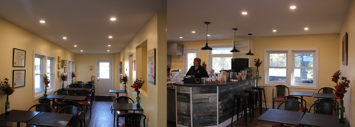 inside of mcarthur house cafe