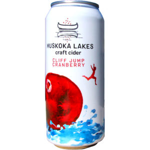muskoka lakes cliff jump cranberry cider can