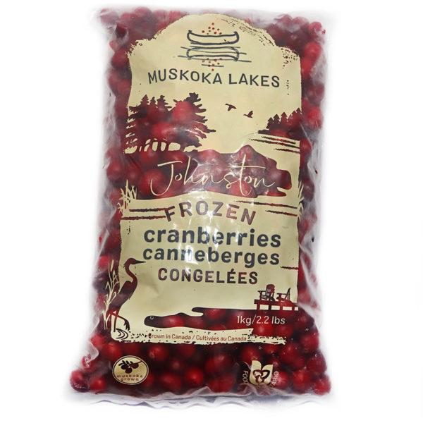 bag of muskoka lakes frozen cranberries 1 kg