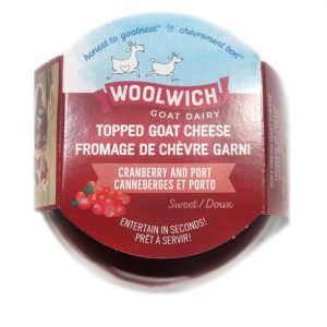 tub of cranberry port goat cheese