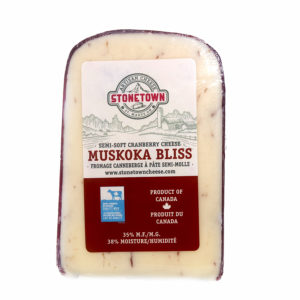 block of muskoka bliss cranberry cheese