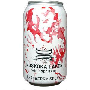 can of Muskoka Lakes Cranberry Splash Wine Spritzer
