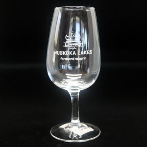 muskoka lakes farm and winery wine glass
