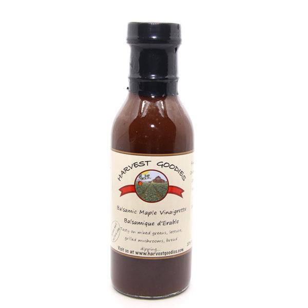 bottle of balsamic maple vinaigrette
