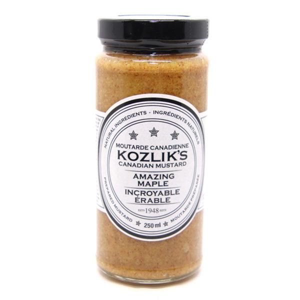 jar of maple mustard