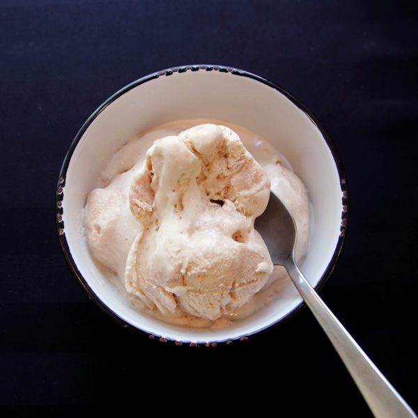 bowl of red maple dessert wine ice cream