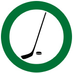 icon of hockey stick and puck