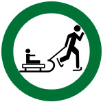 icon of skater pulling a sled
