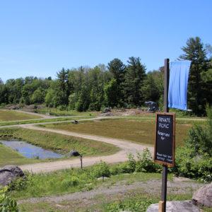 scenic picnic site overlooking cranberry farm